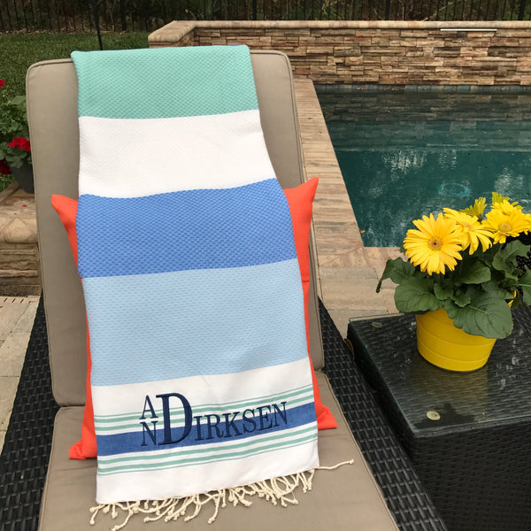 Honeycomb Weeve Multicolor Turkish Towels - 2 Color Options