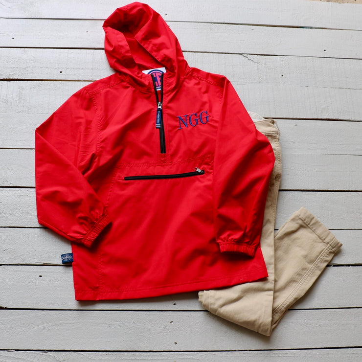 Monogrammed Lightweight Packable Pullover - Youth - Many Color Options