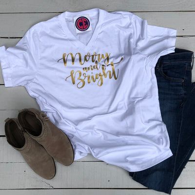 Merry & Bright TShirt - White
