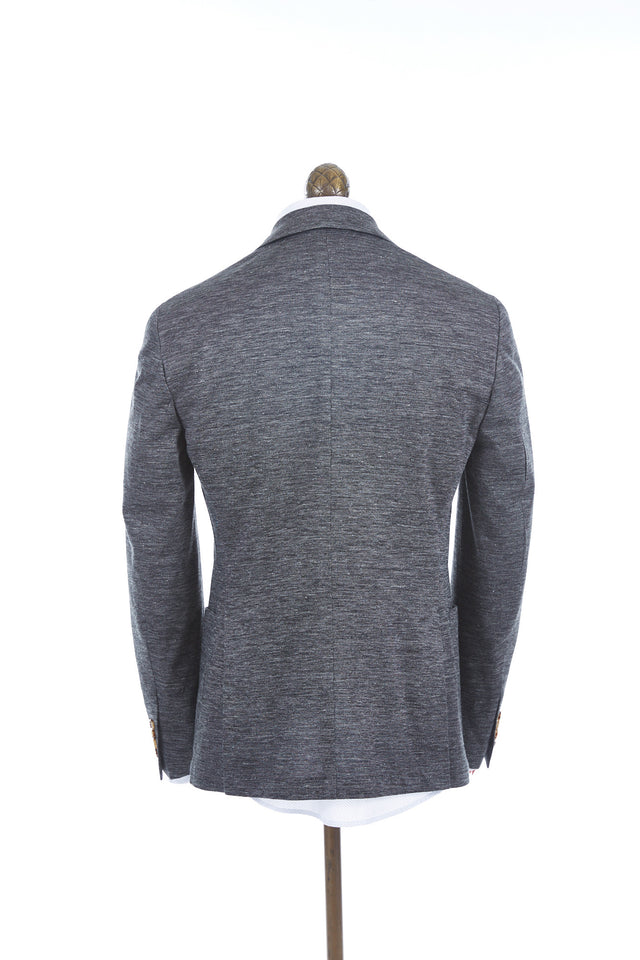 Eleventy Linen and Cotton Knit Grey Sport Jacket - Sport Jackets - Eleventy - LALONDE's