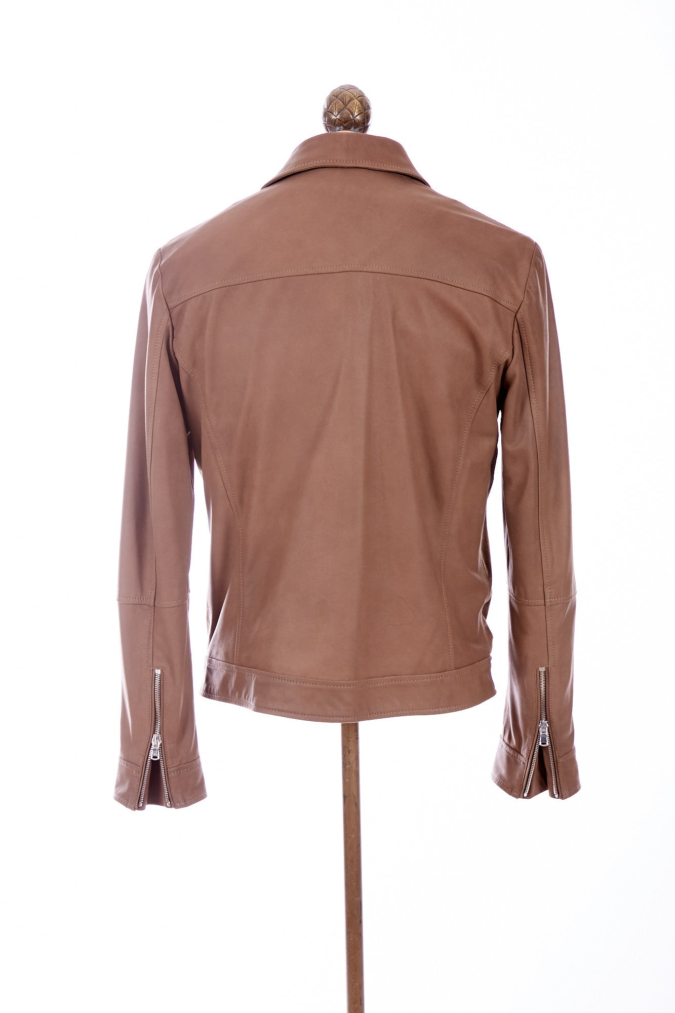 Eleventy Goat Suede and Leather Bomber