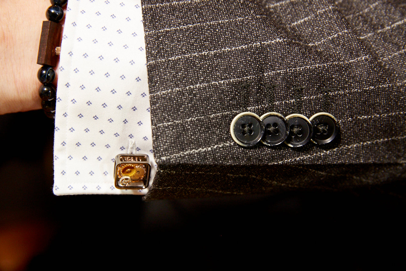Baldessarini Neat Shirt and Stripe Suit Convertible Cuff - LALONDE's