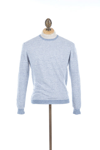 Circolo Cotton-Linen Striped Sweater
