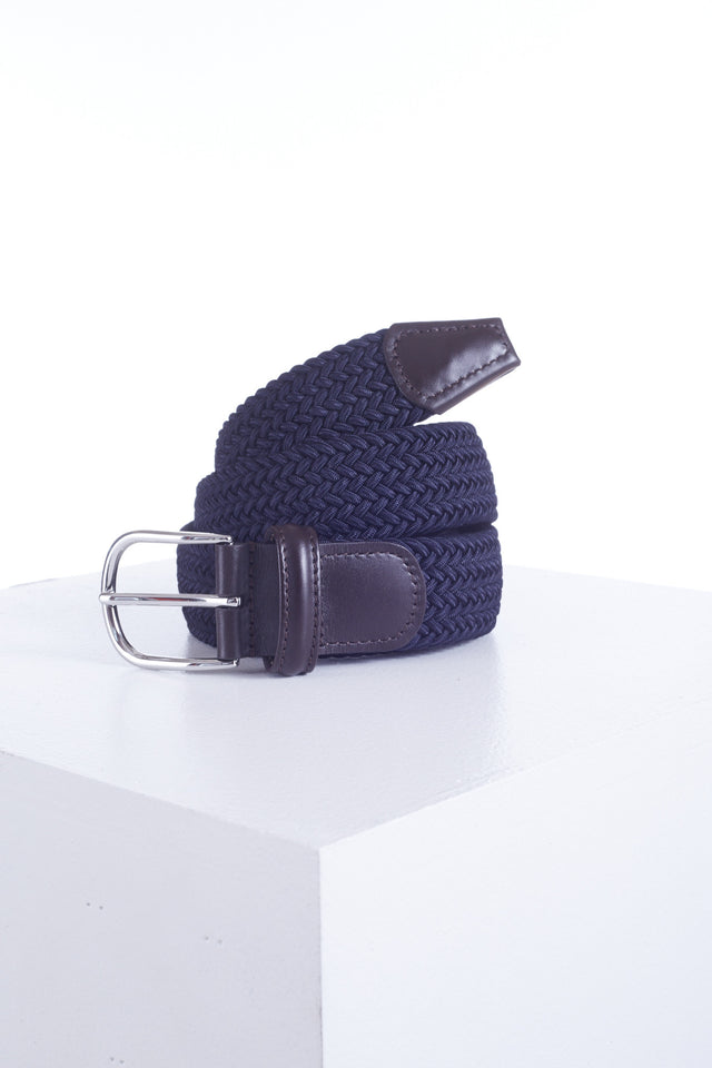 Anderson's Navy Woven Belt - Accessories - Anderson's - LALONDE's