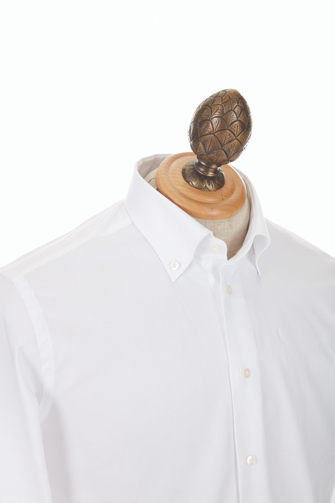 Blazer for Men White Oxford Button-Down Dress Shirt Zoomed in