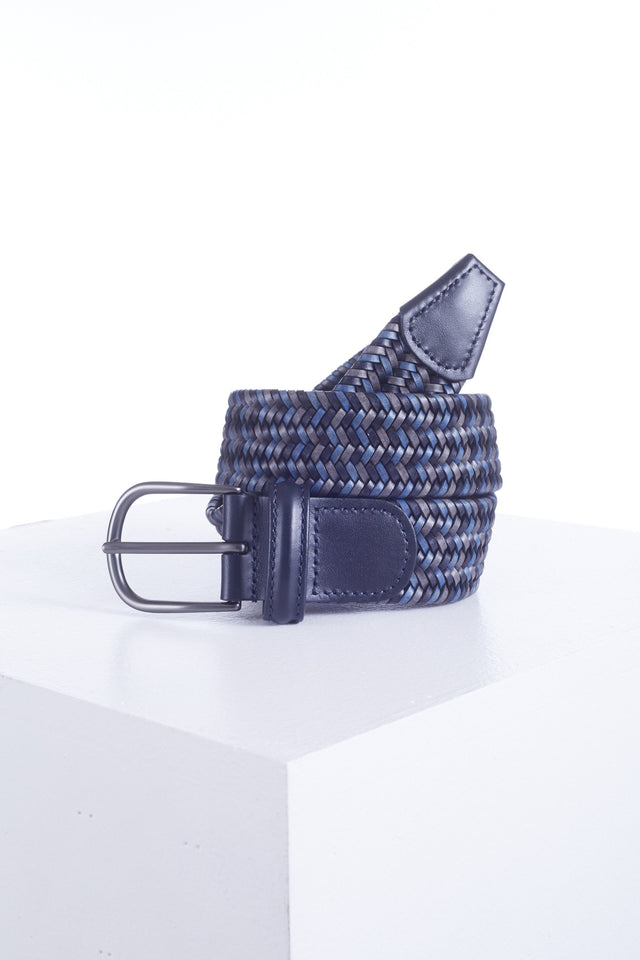 Anderson's Navy Mix Braided Elastic Belt - BELTS - Anderson's - LALONDE's