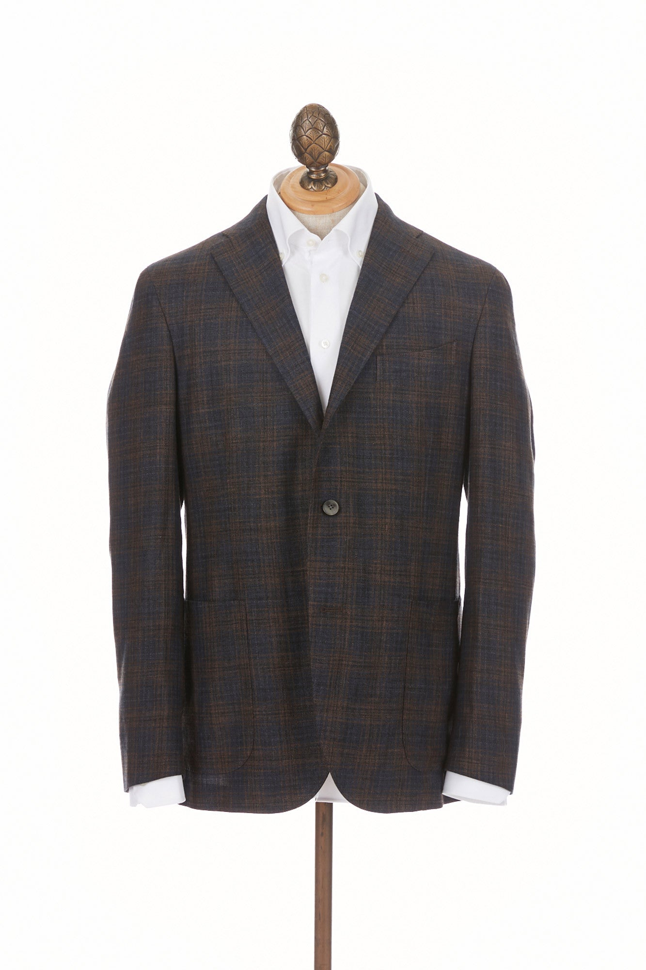 Boglioli 'K-Jacket' Brown & Navy Check Sport Jacket