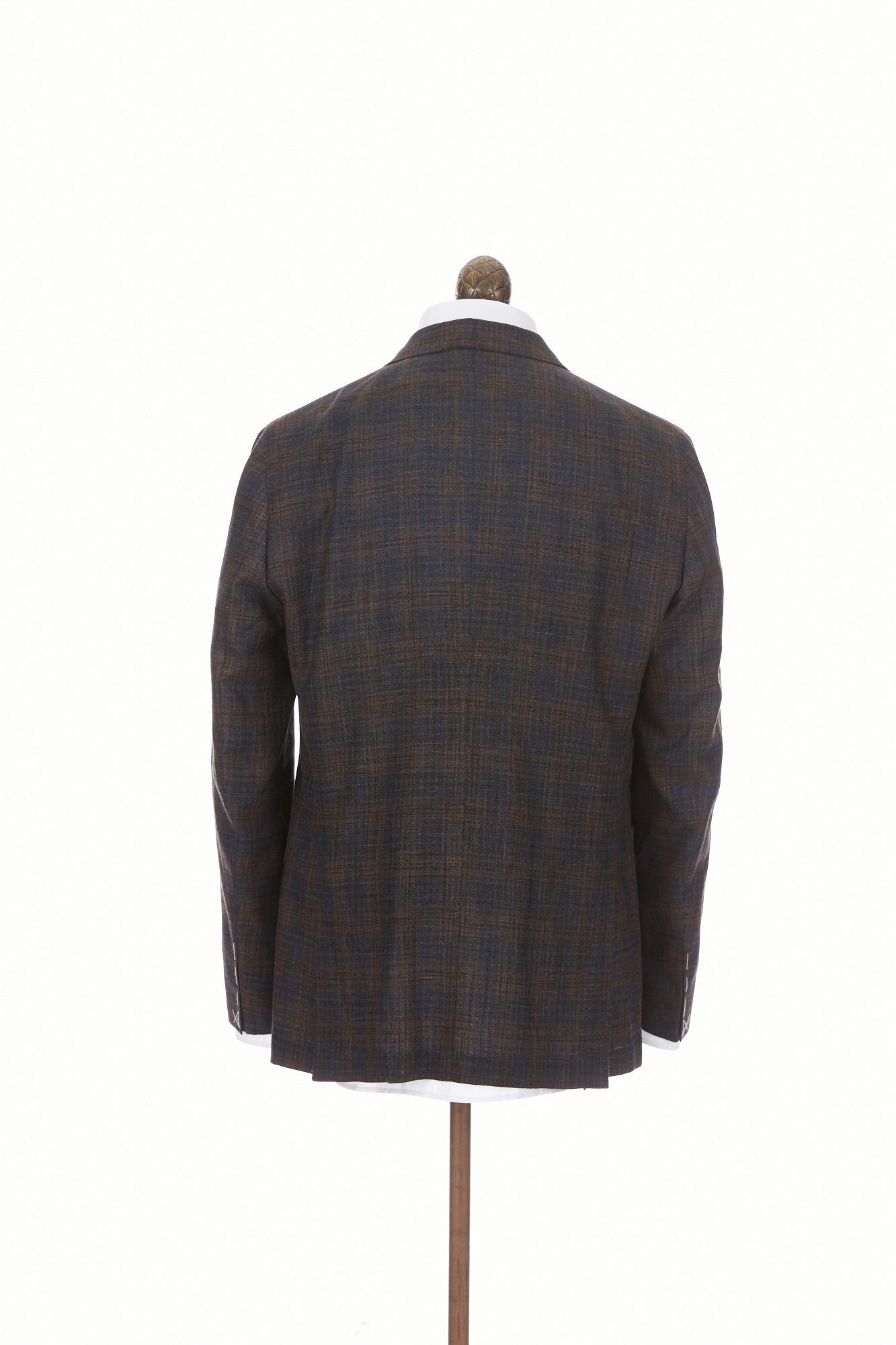 Boglioli 'K-Jacket' Brown & Navy Check Sport Jacket - Blazer, Sport Coat -Model: N2902E. Back