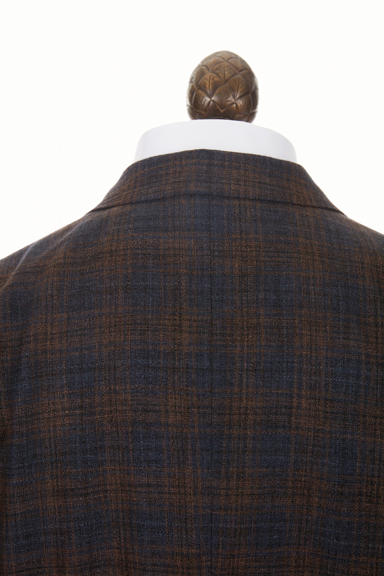 Boglioli 'K-Jacket' Brown & Navy Check Sport Jacket - Blazer, Sport Coat -collar