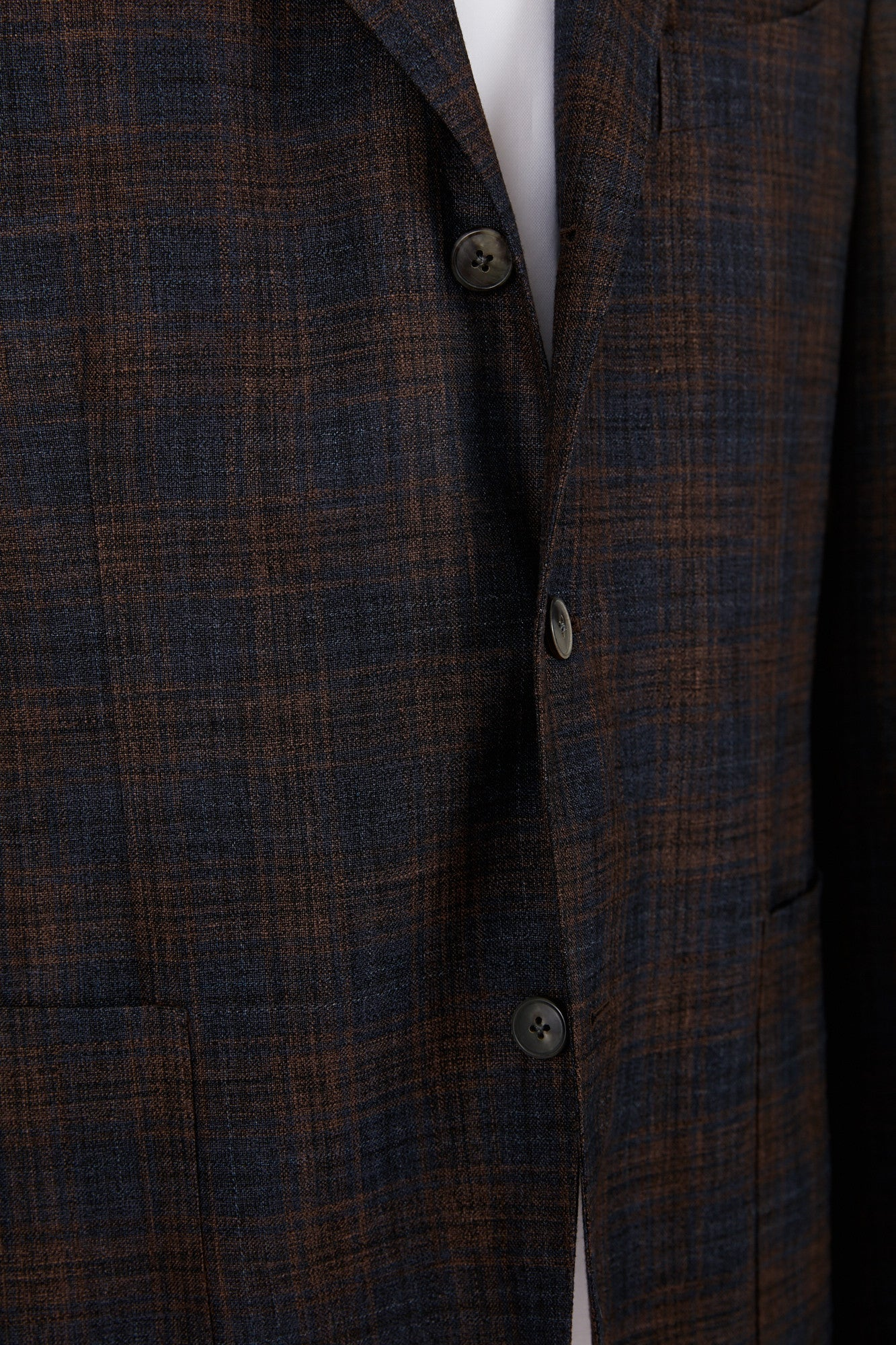 Boglioli 'K-Jacket' Brown & Navy Check Sport Jacket - Blazer, Sport Coat -Model: N2902E.