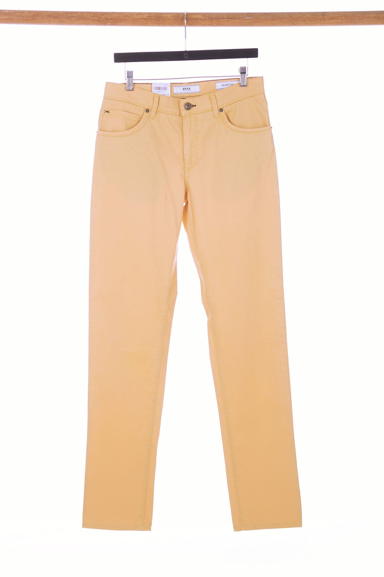 Brax Yellow 5-Pocket Cotton Pants Cadiz Fit