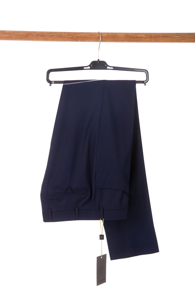 Canali Comfort-Travel Cobalt Blue Dress Pants