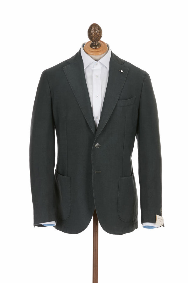 L.B.M. 1911 Forest Green Wool Mohair Soft Sport Jacket