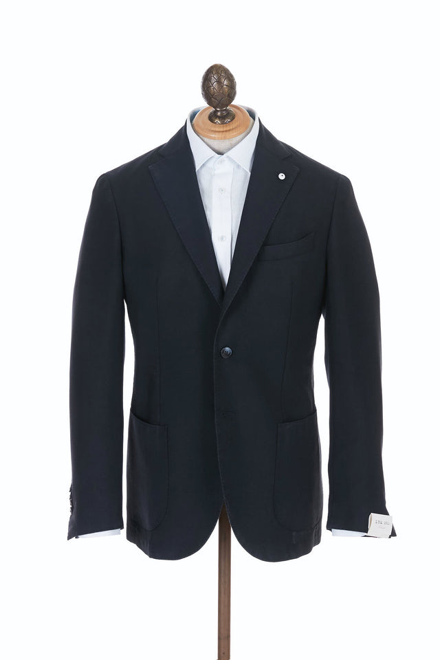 L.B.M. 1911 Navy Wool Mohair Soft Sport Jacket