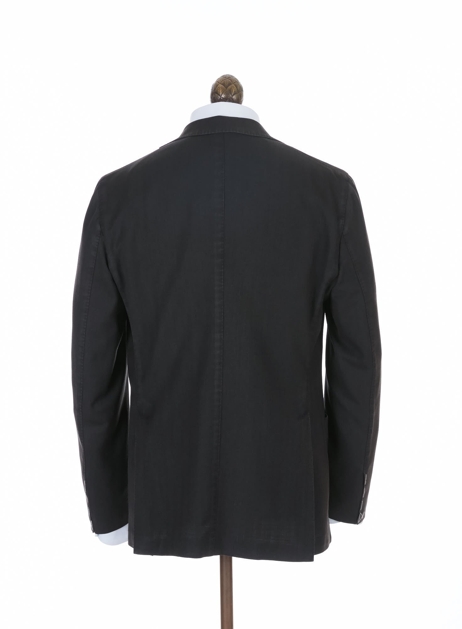 Boglioli Black Wool Herringbone K-Jacket - N2902J Back