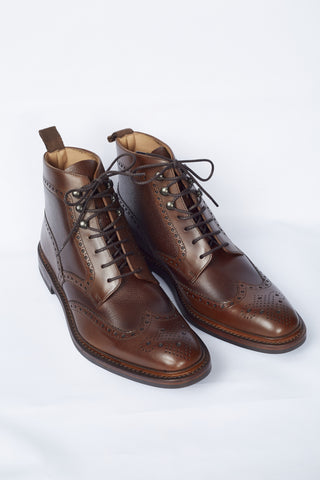 Loake Bosworth Brown Grain Boot - Shoes - Loake - LALONDE's