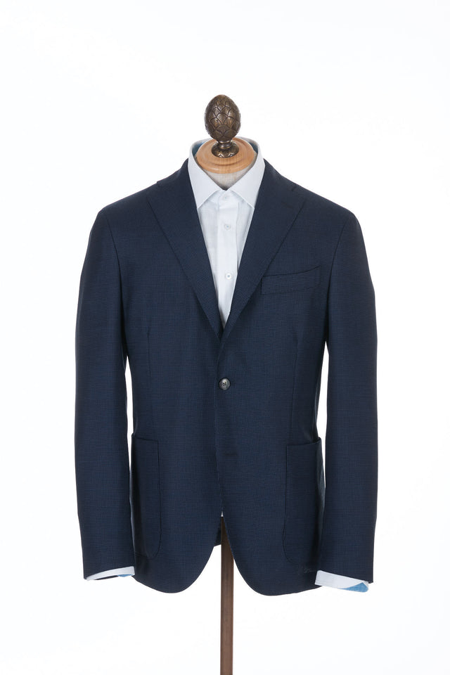 Boglioli 'K-Jacket' Navy Mini-Check Sport Jacket - N2902E Front