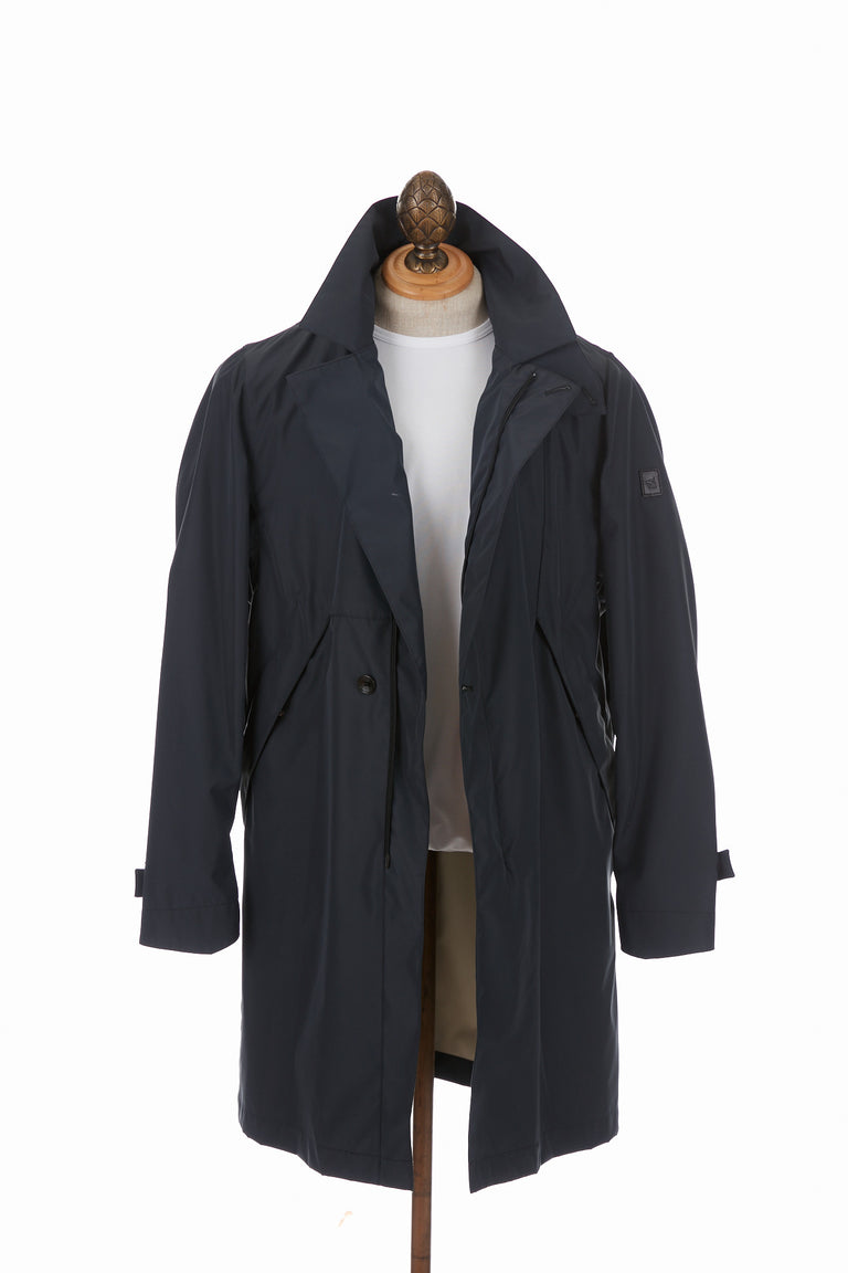 Montecore Navy Packable Trench Coat - Outerwear - Montecore - LALONDE's