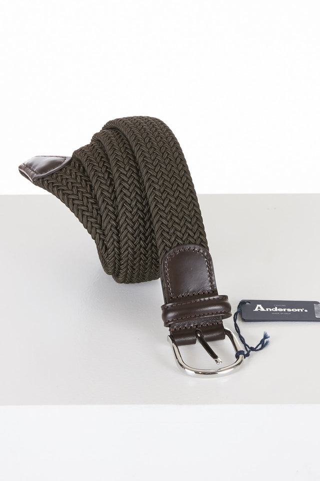Anderson's Olive Green Elastic Stretch Belt - Accessories - Anderson's - LALONDE's