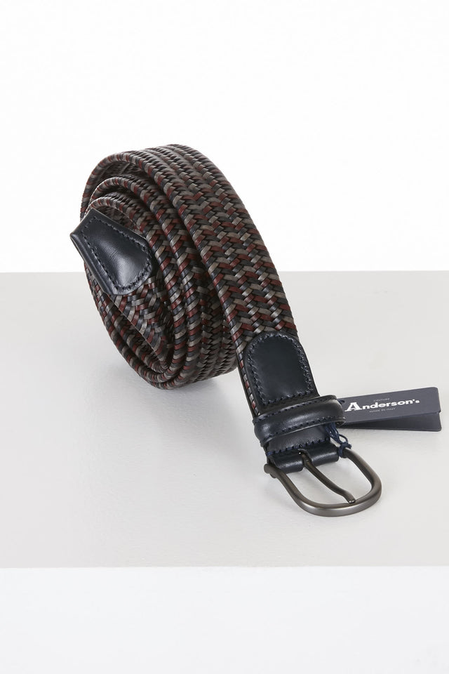 Anderson's Maroon Leather Elastic Belt - BELTS - Anderson's - LALONDE's