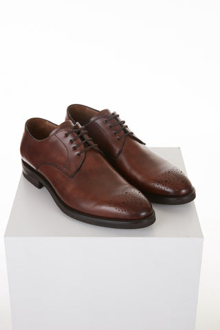 Giulio Moretti Perforated 4-eyelet Derby