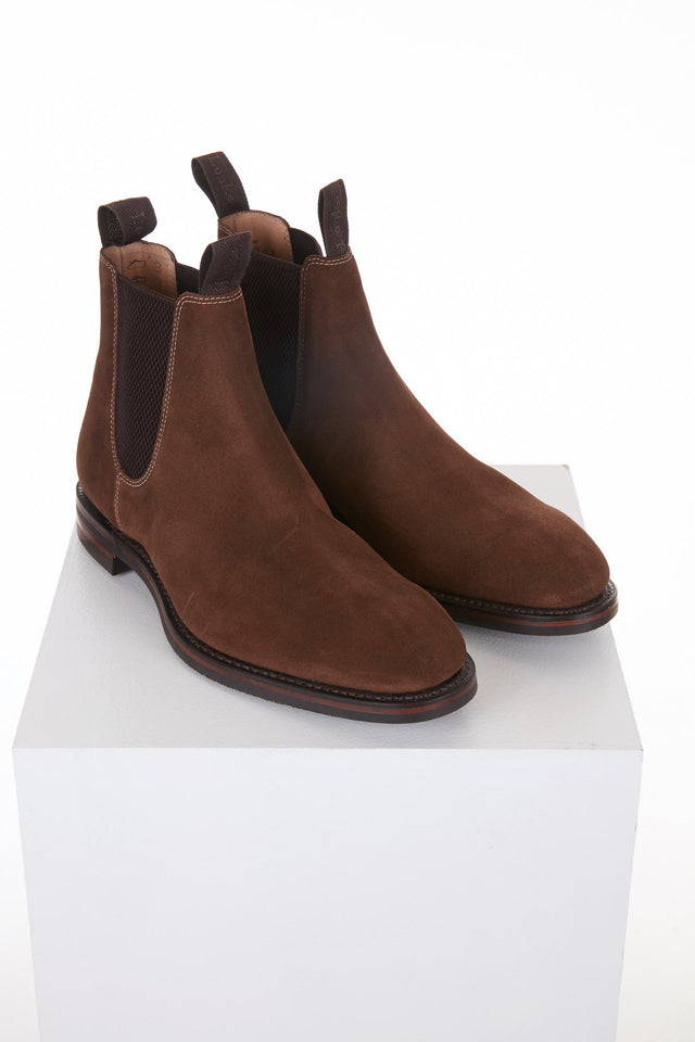 Loake 1880 Chatsworth Brown Suede Chelsea Boot - Shoes - Loake - LALONDE's