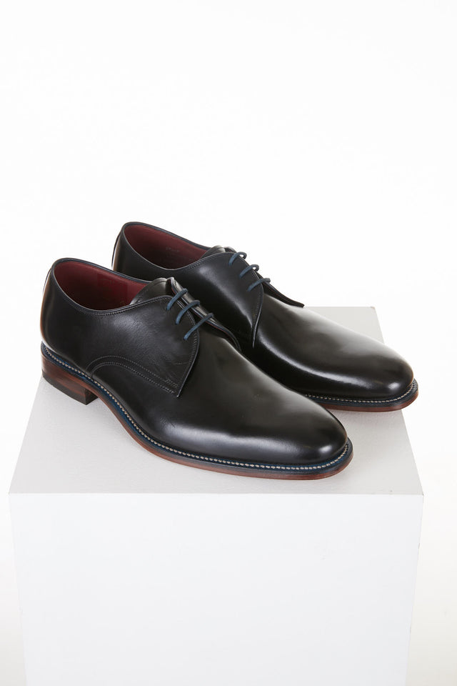 Loake Drake Black 3-Eyelet Derby - Shoes - Loake - LALONDE's