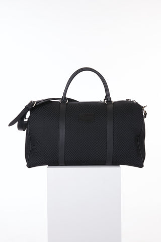 Anderson's Black Woven Duffle Bag Front
