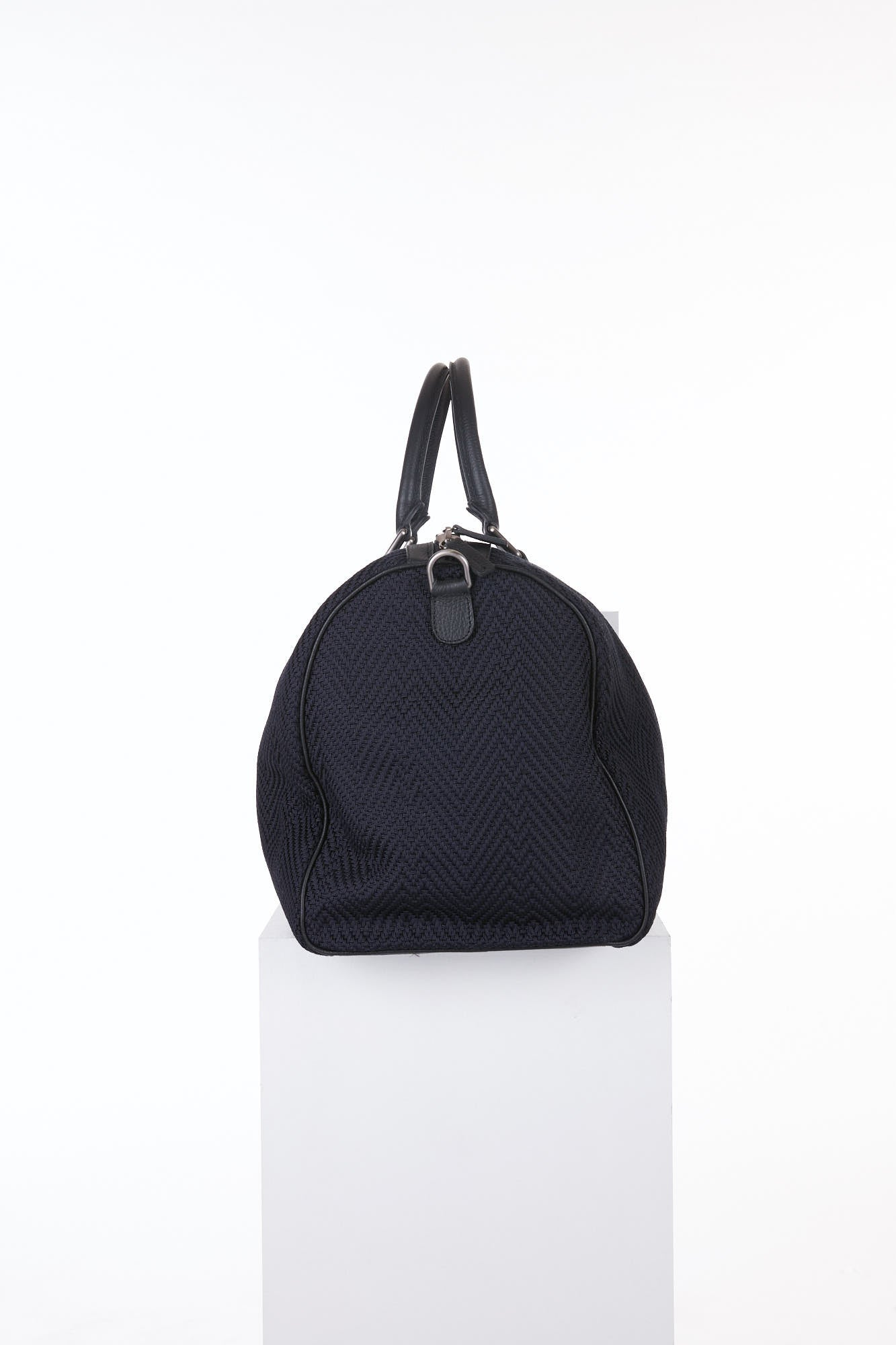 Anderson's Black Woven Duffle Bag Side