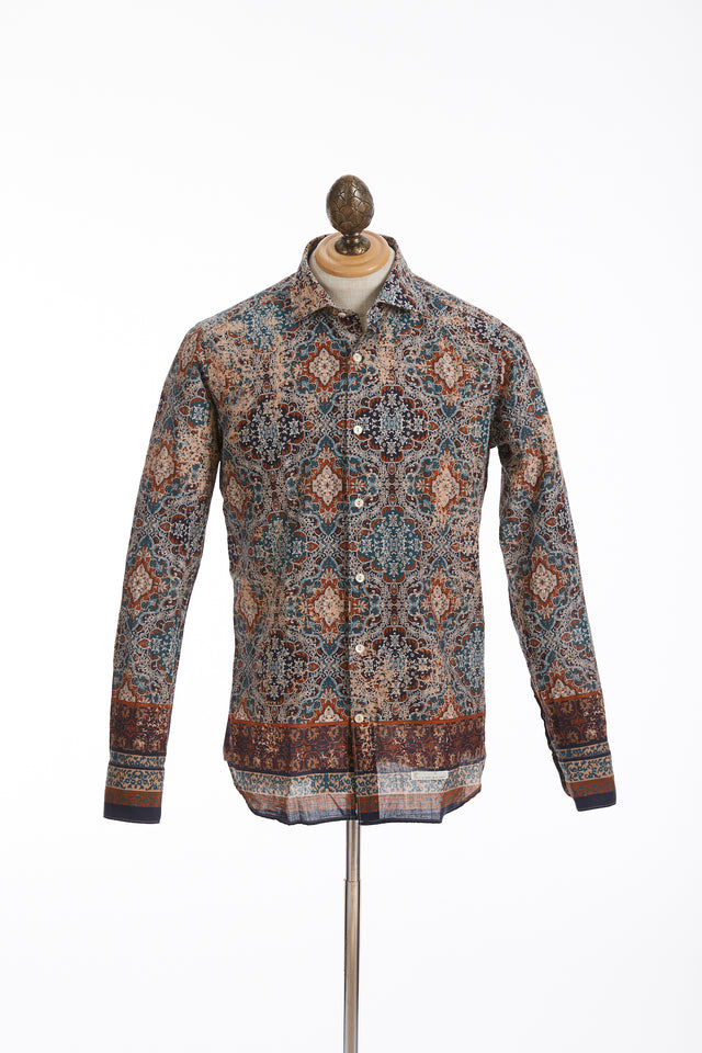 Tintoria Mattei Ultralight Tapestry Print Cotton Shirt