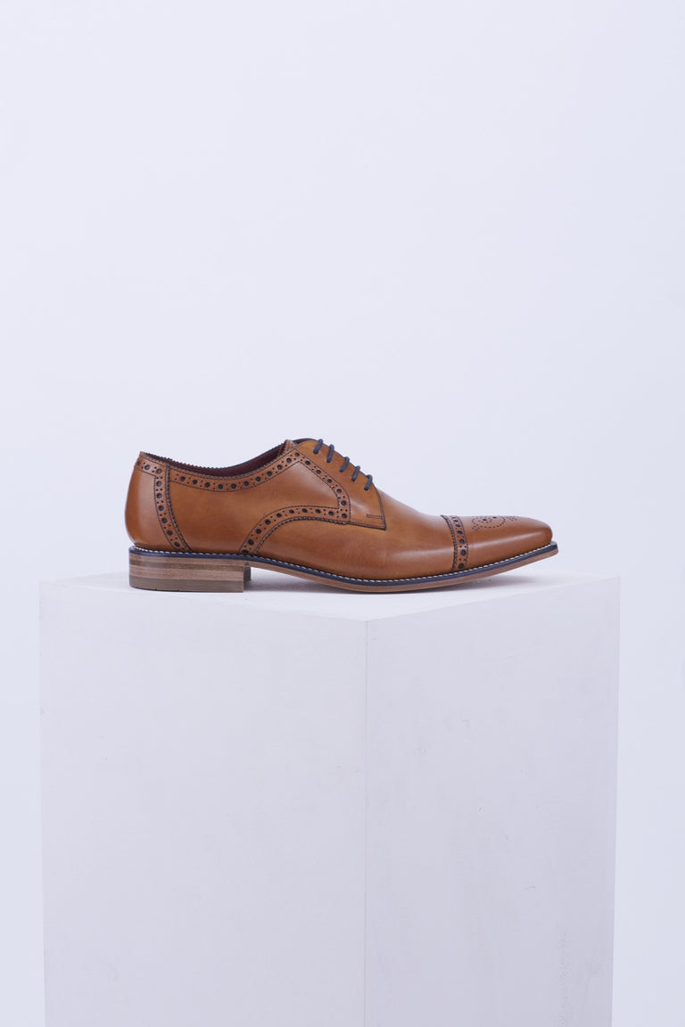 Loake Foley Captoe Brogue Blucher - Shoes - Loake - LALONDE's