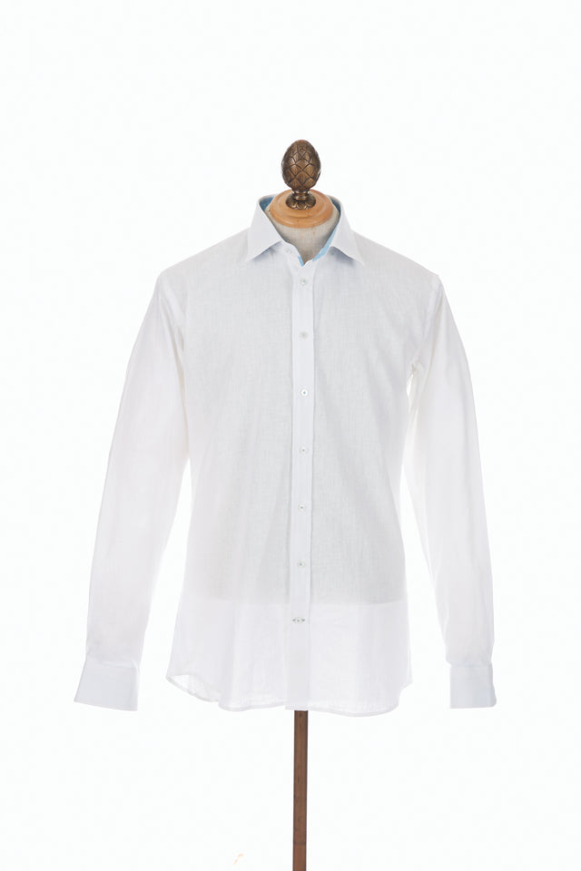 Blazer for Men White Linen Shirt