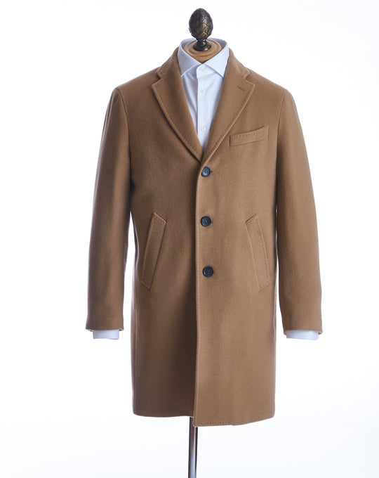 0909 Camel Wool Topcoat - Outerwear - 0909 - LALONDE's