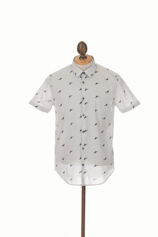 John Varvatos Short Sleeve Cotton Crow Shirt Front