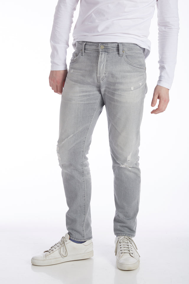 AG Jeans 'Tellis' Washed Grey Distressed Jeans - Pants - AG Jeans - LALONDE's