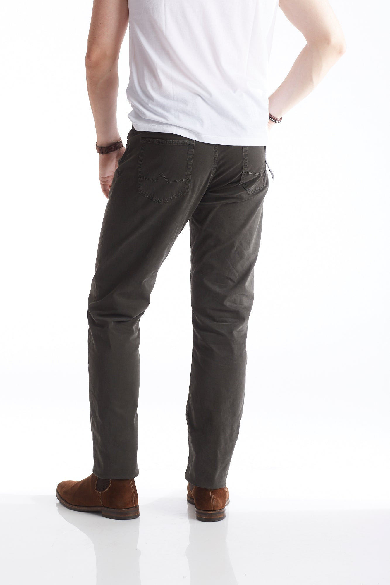 Alberto Moss Green 5-Pocket Chino