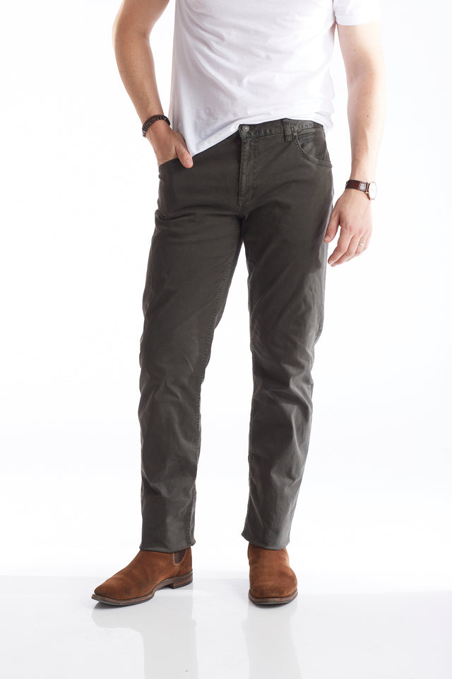 Alberto Moss Green 5-Pocket Pants