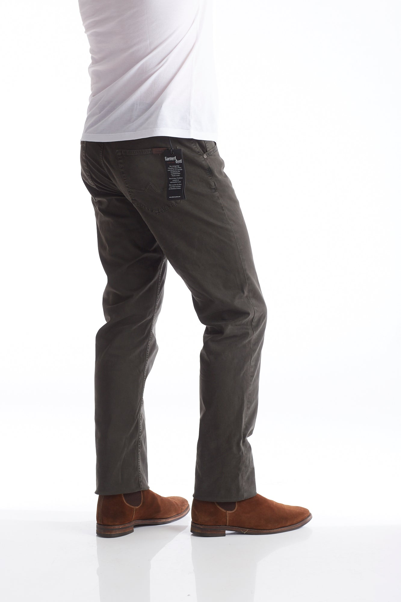 Alberto Moss Green 5-Pocket Pants Back