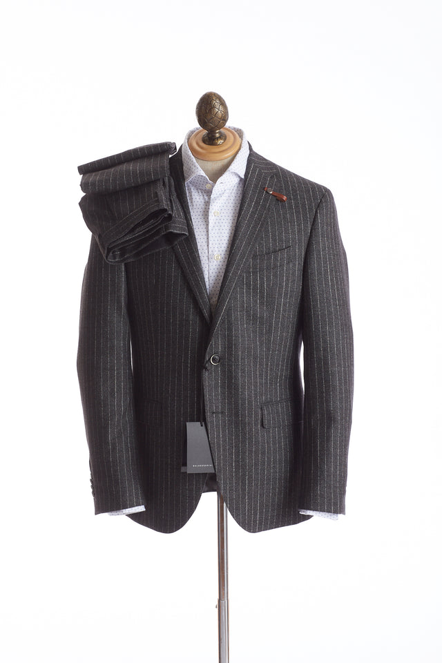 Baldessarini Chalk Stripe Grey Suit - Suits - Baldessarini - LALONDE's