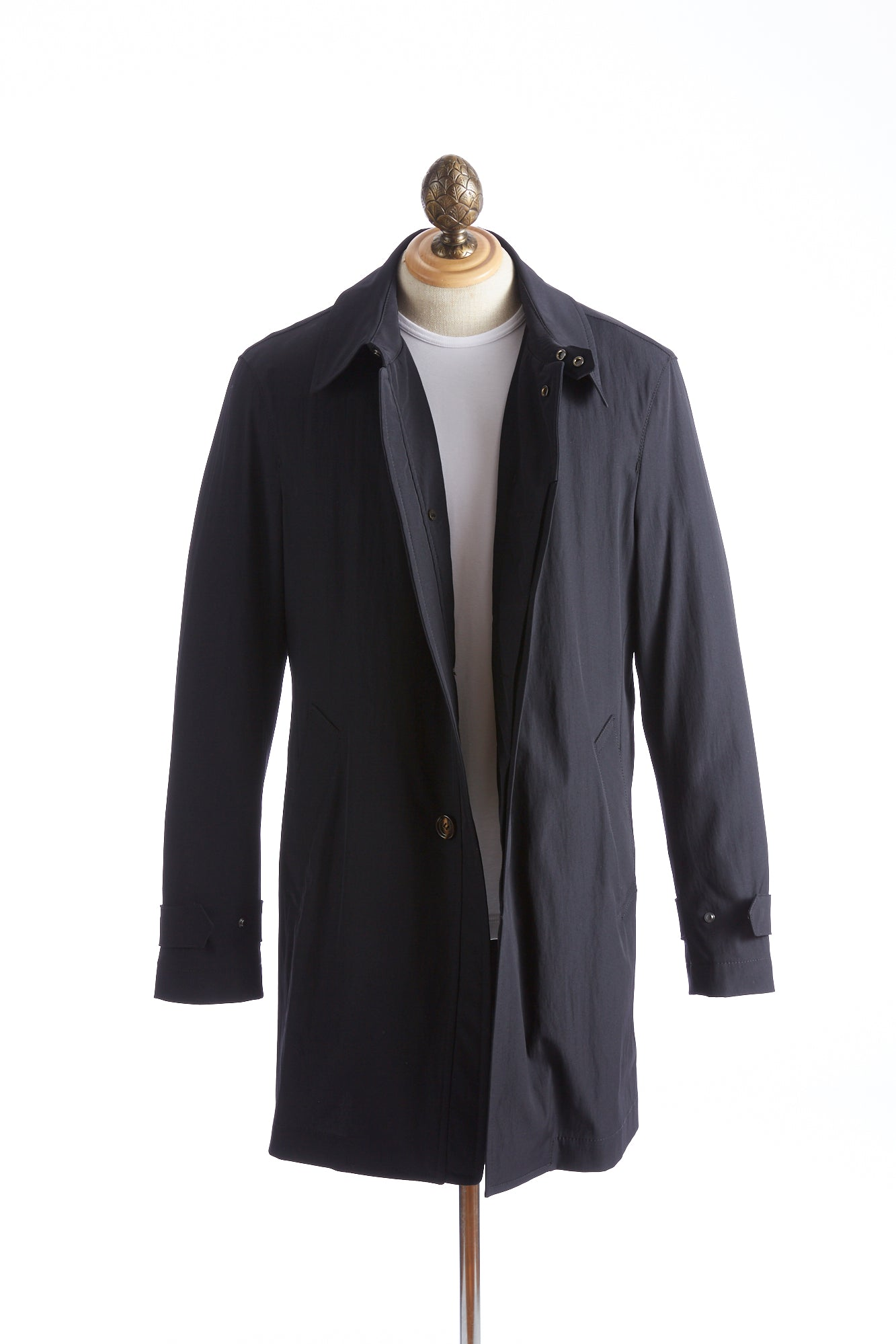 Baldessarini Thermore Quilted Navy Trench Coat Open