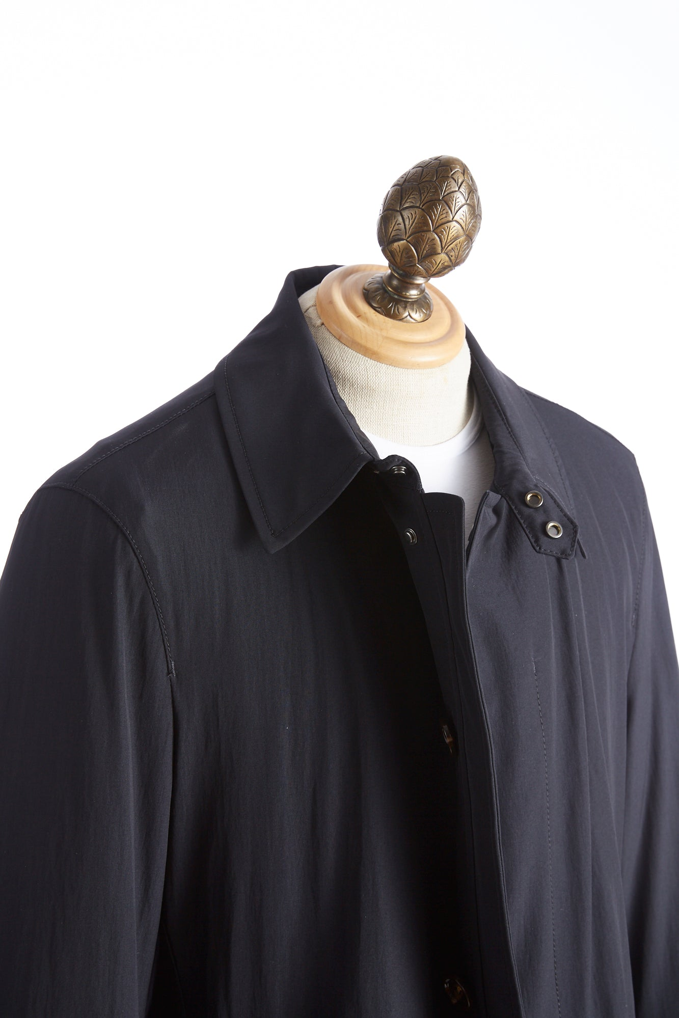 Baldessarini Thermore Quilted Navy Trench Collar