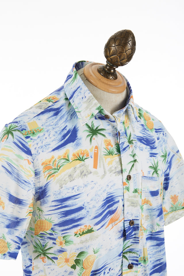 Benson Hawaiian Print Cotton Short Sleeve Shirt - Shirts - Benson - LALONDE's