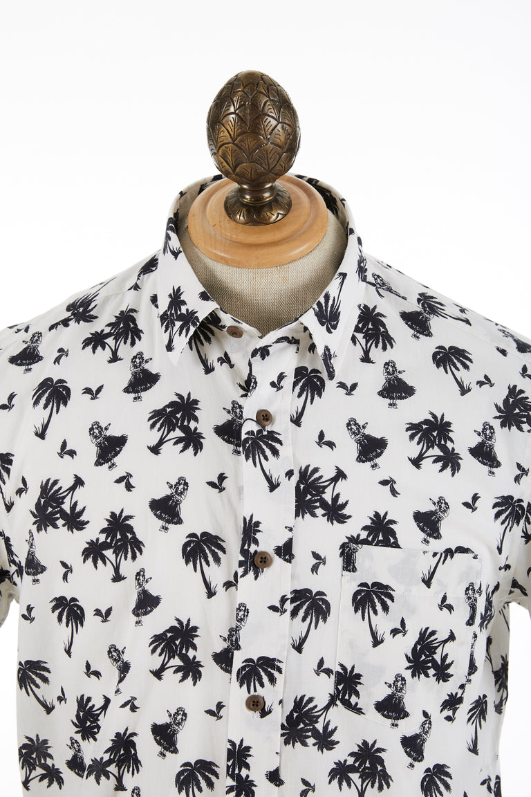 Benson Palm Tree Print Cotton Short Sleeve Shirt - Shirts - Benson - LALONDE's
