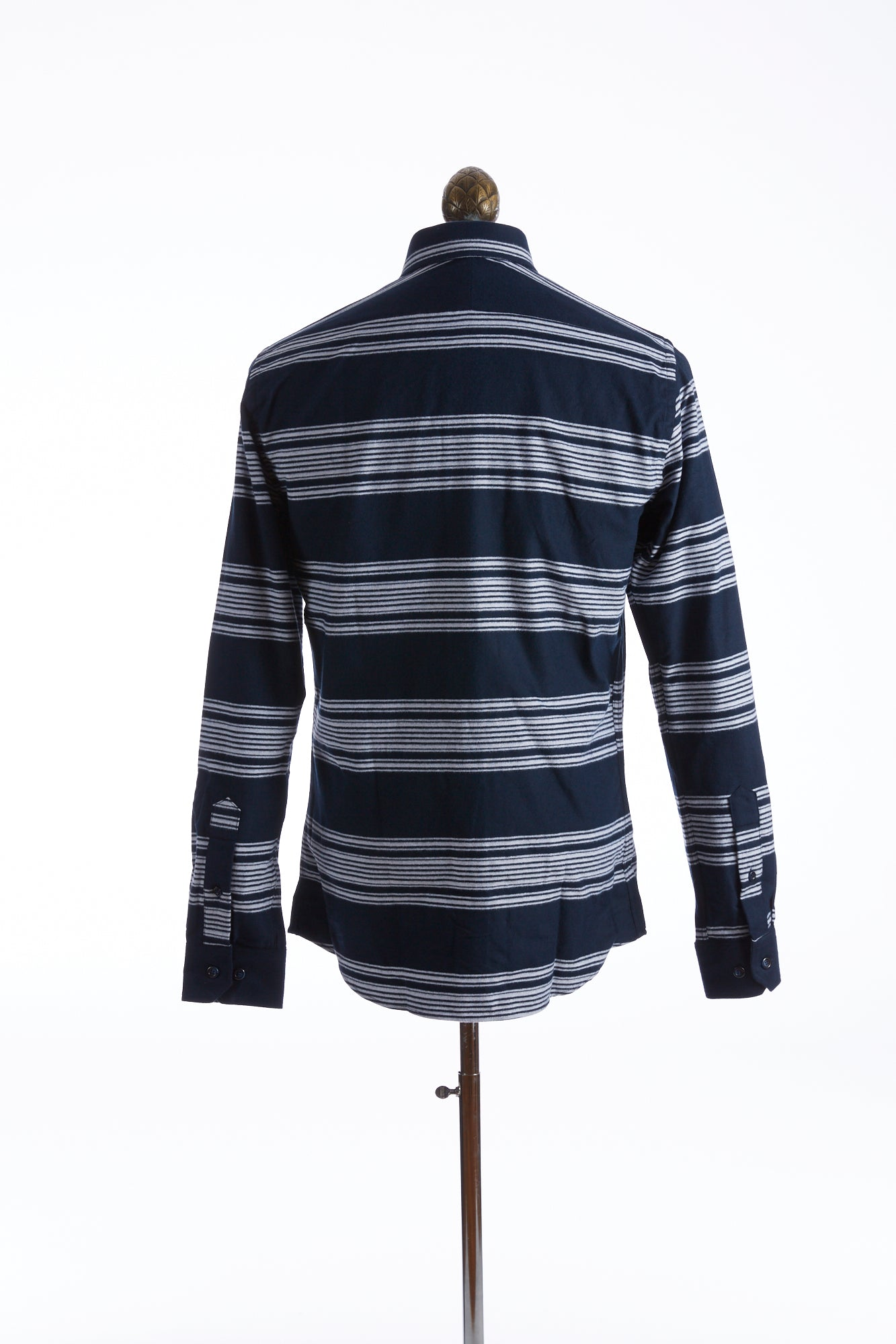 Blazer for Men Navy-White Striped Flannel Shirt