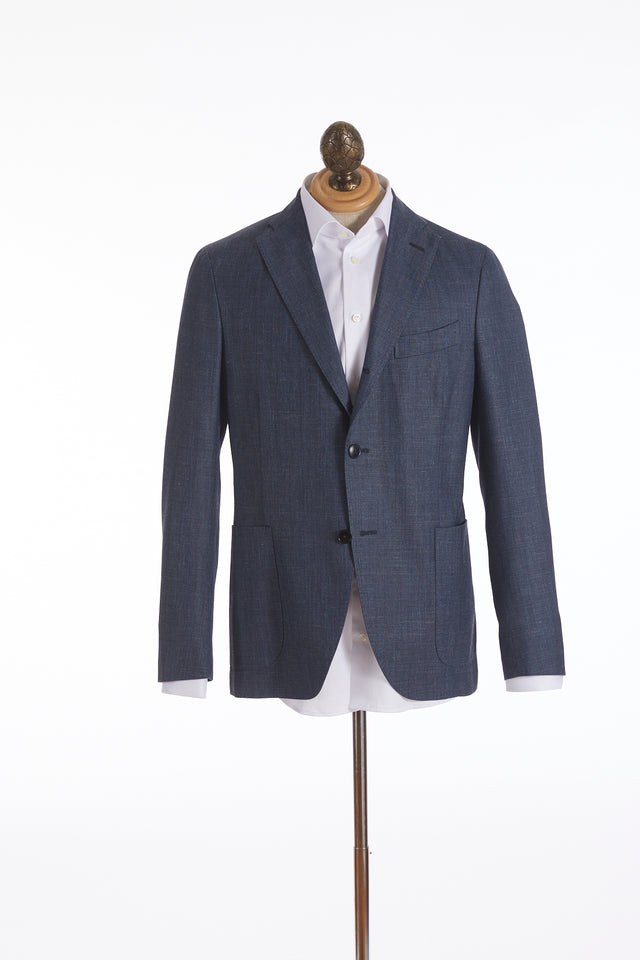 Boglioli 'K-Jacket' Blue Chambray Sport Jacket