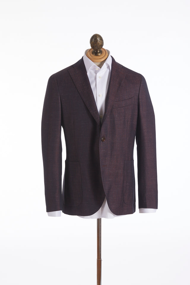Boglioli 'K-Jacket' Wine Melange Chambray Sport Jacket
