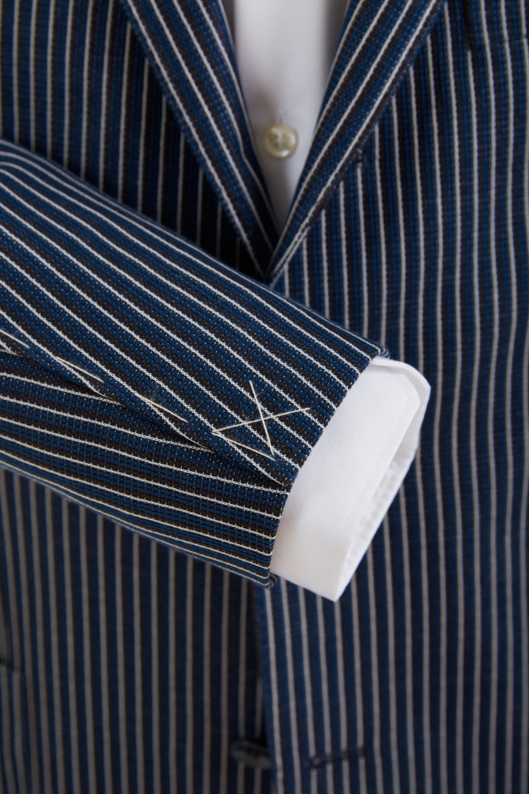 Boglioli Striped Navy Stretch Sport Jacket - Sport Jackets - Boglioli - LALONDE's