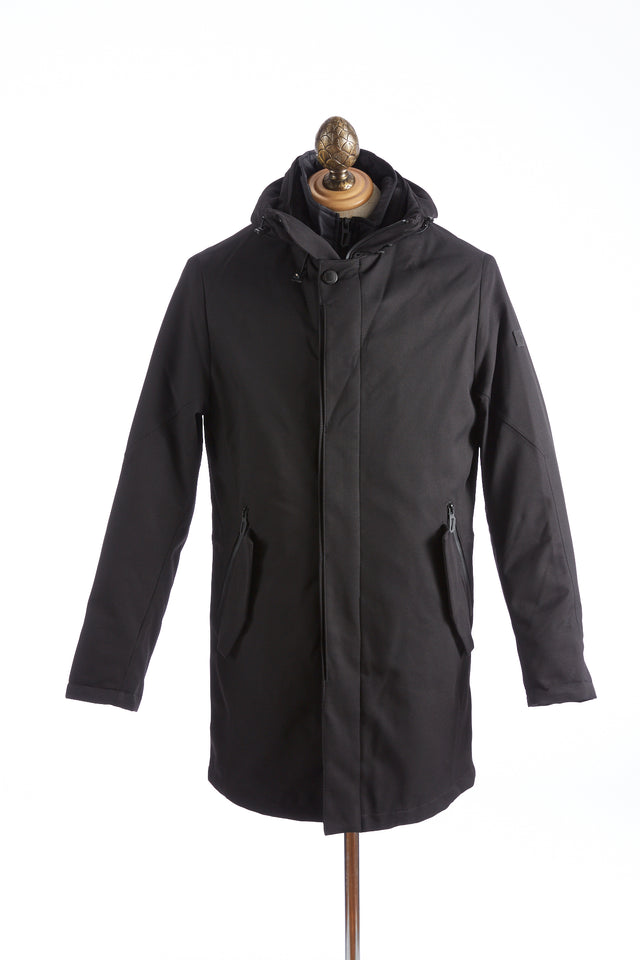 Bugatti Black Waterproof Hooded Parka
