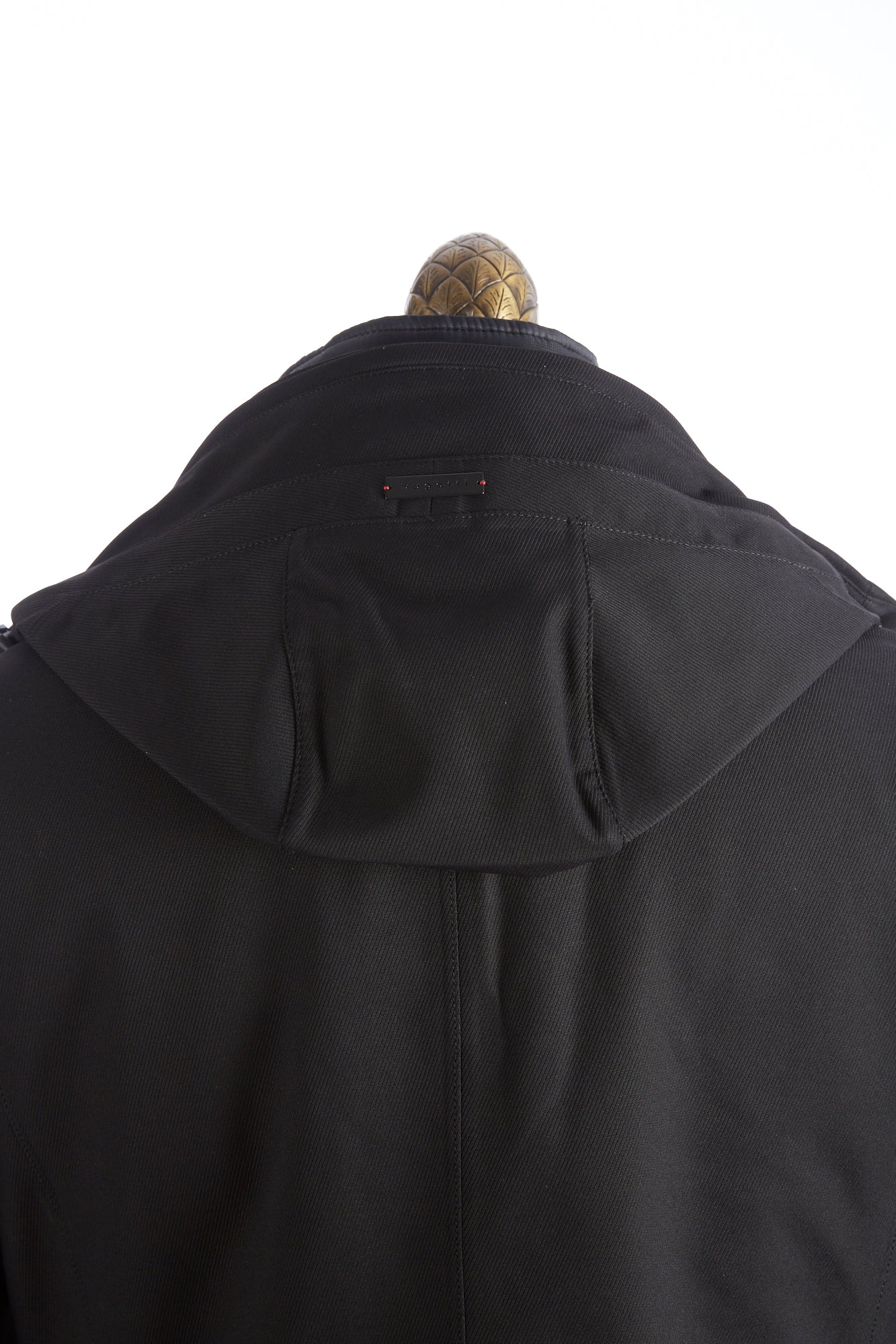 Bugatti Black Waterproof Hooded Parka Open Hood