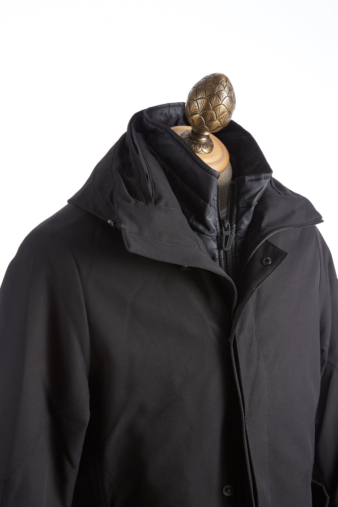 Bugatti Black Waterproof Hooded Parka Side